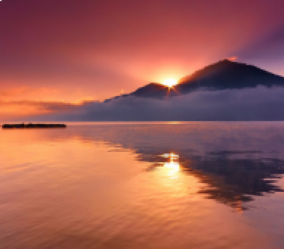 l'ascension du Mont Batur  avec le lever du soleil est incroyable et inoubliable