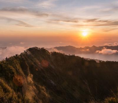 Randonnée à Bali mont batur,balilabelle