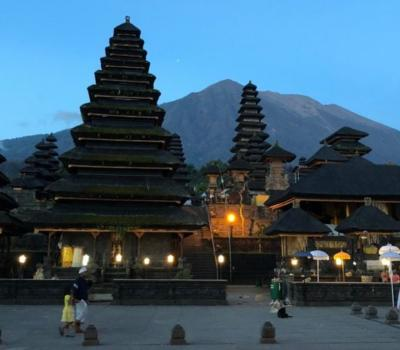 l' ascension majestueuse  des montagnes de bali (3142m) le soleil se lève , MONT AGUNG