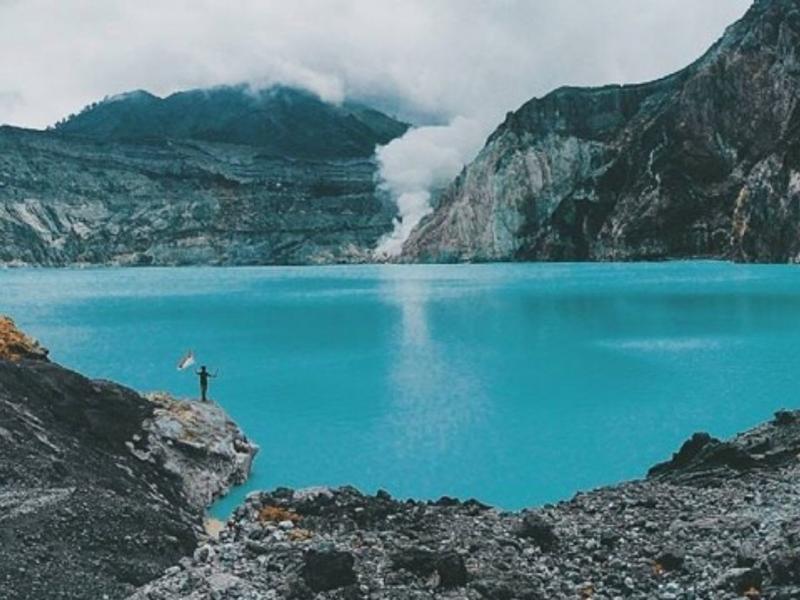 ascension du mont ijen,vue très imprenable avec un guide francophone