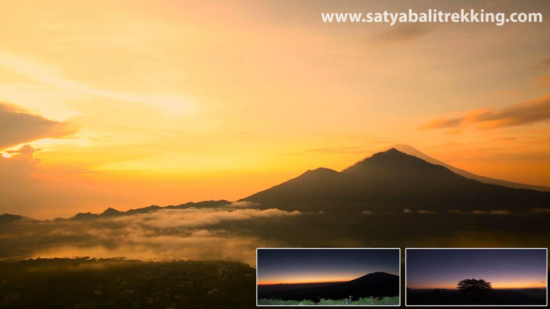 tres belle le soleil  levant au mont batur d'ascension-balilabelle