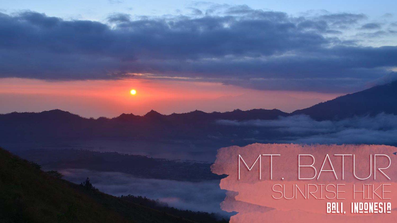 voyage à Bali  avec un guide francophone balinais l'ascension le mont Batur, lever de soleil