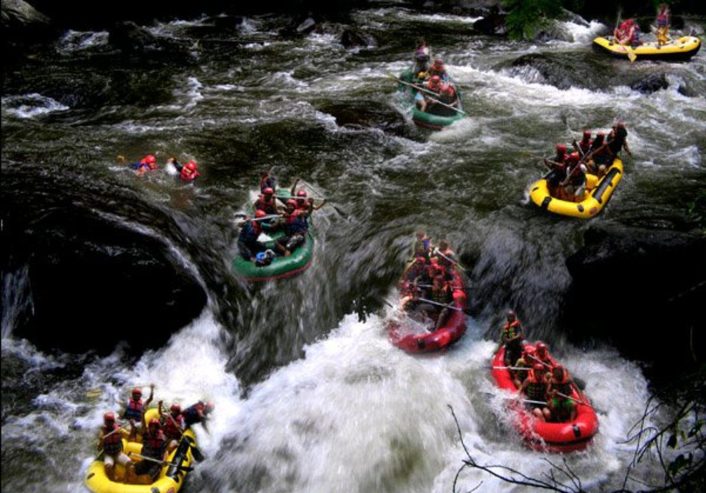 voyage à bali, La randonnée mont Batur et combinaison  telaga waja rafing tres exotique