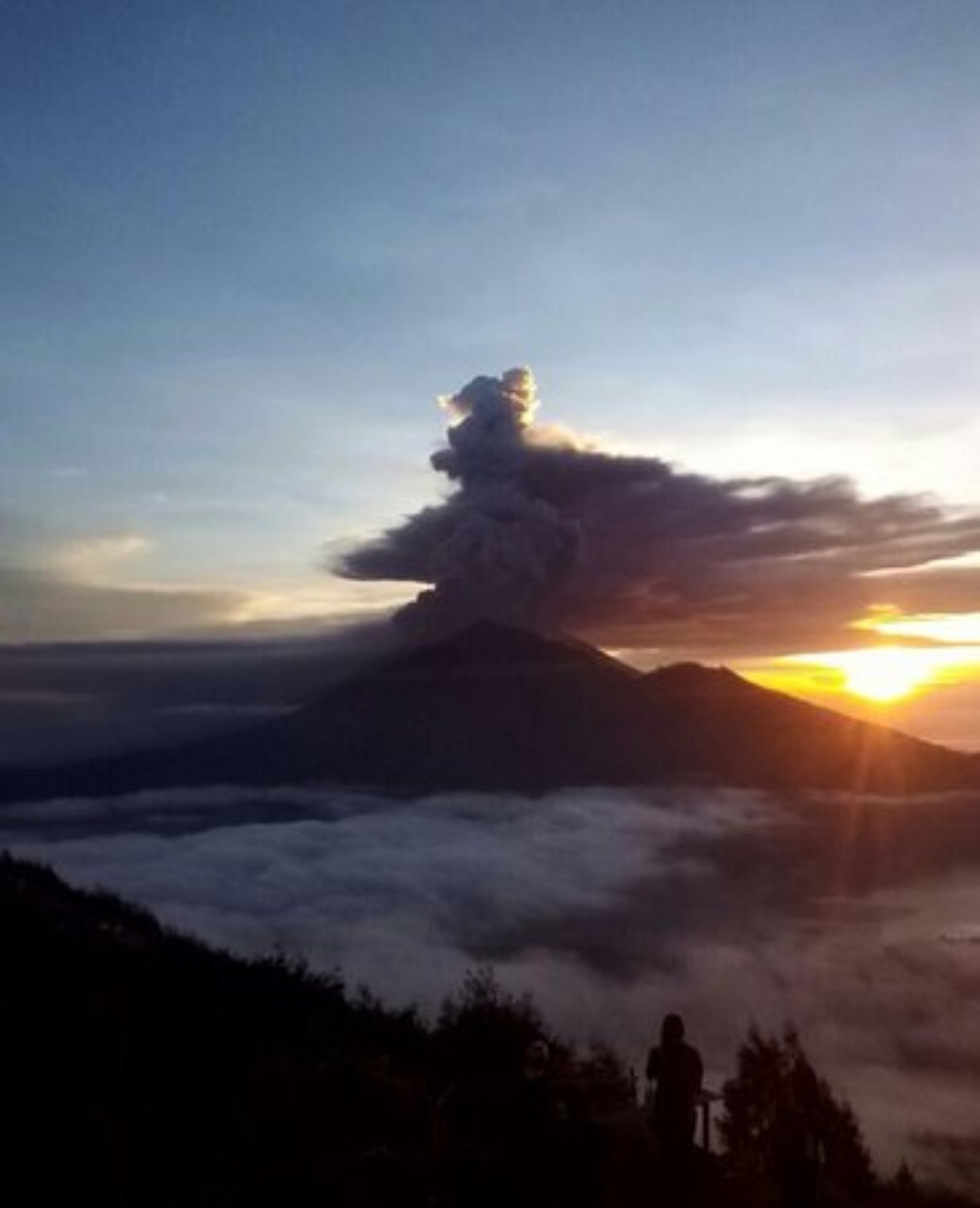 ascension du mont Batur pour voir le lever du soleil