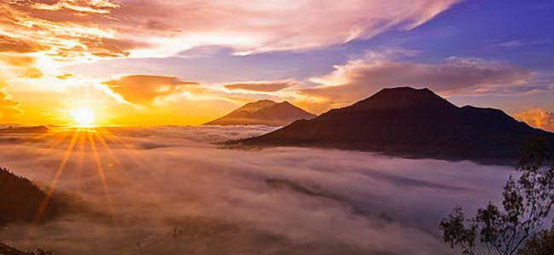 l'ascension  du mont batur, kintamani (bali)
