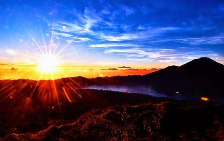 bali randonnée  le volcan et lac batur , bali - kintamani. paysages exotiques