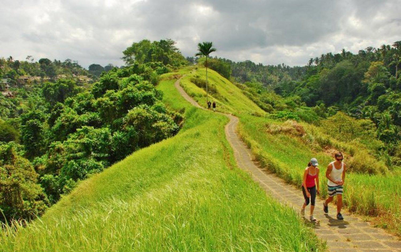 balade à pied dans les environs d'ubud