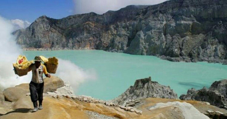 mont Ijen Blue Fire Randonnée est un voyage organisé de Bali à Java ,balilabelle
