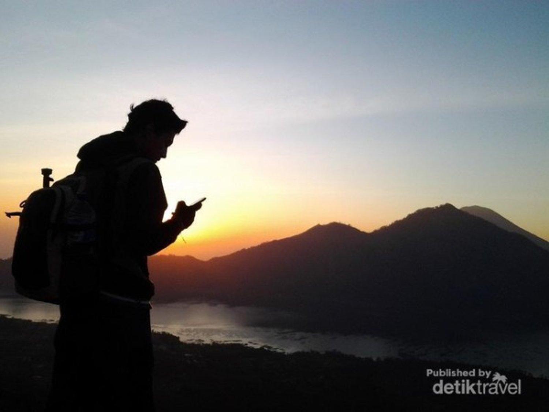 très belle randonnée au lever du soleil incroyable sur le mont Batur