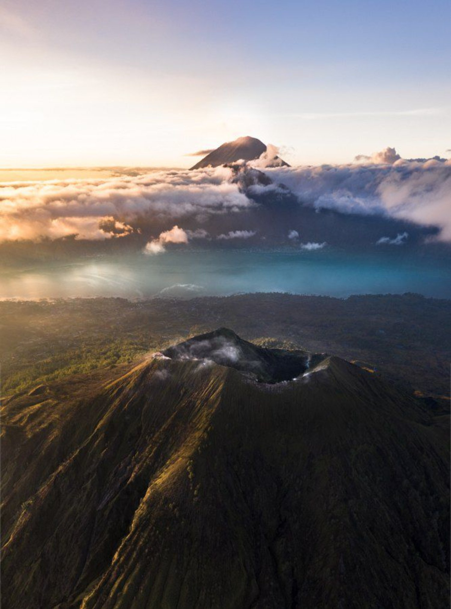beau lever de soleil sur le mont Batur, conseils pour la randonnée