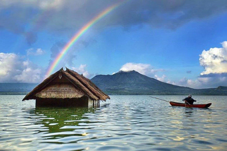 la beauté du mont Batur est idéale pour la randonnée et entourer le volcan,balilabelle